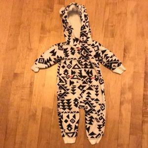Carter's Infant Girl Aztec Fleece Hooded Jumpsuit